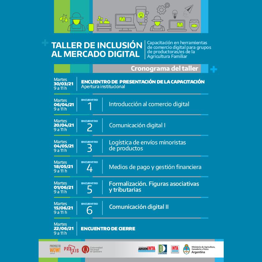 Taller inclusion al mercado digital Cronograma.cdr